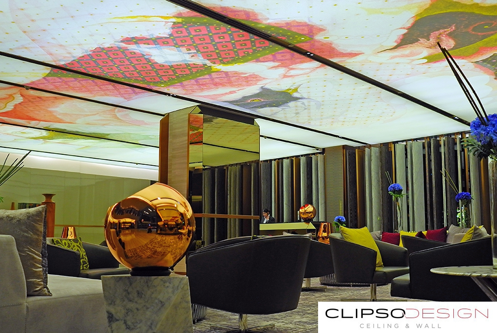 тканевые потолки clipso в отеле Hilton