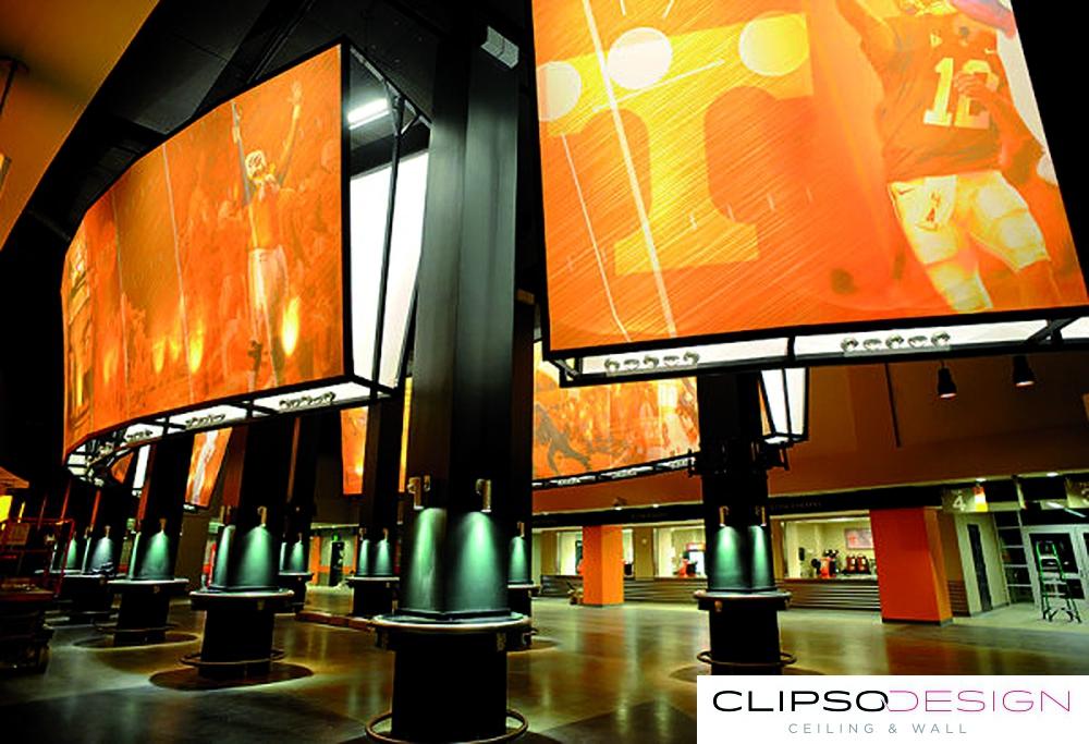 натяжные потолки clipso на стадионе Neyland