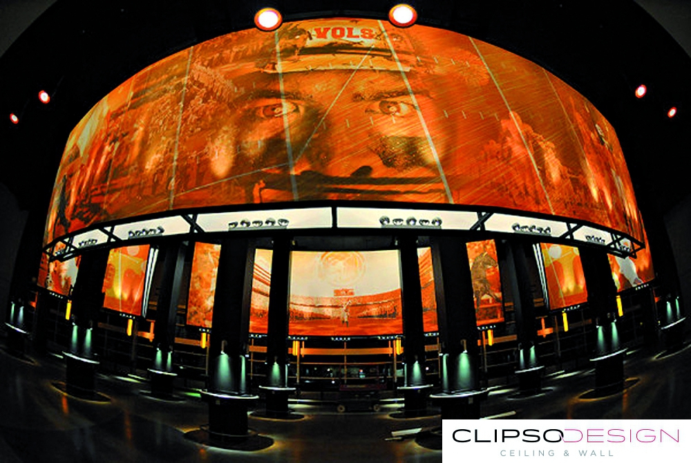 тканевые потолки clipso на стадионе Neyland