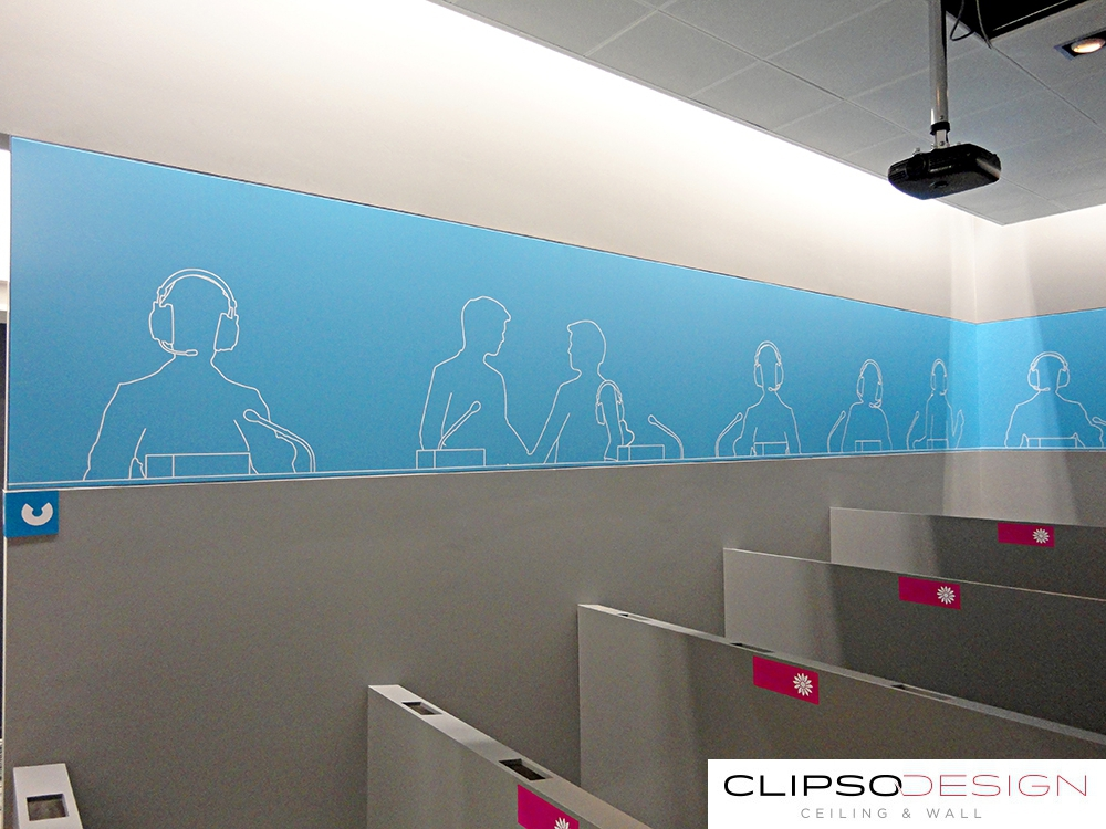 тканевые потолки clipso в Европарламенте
